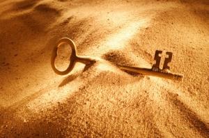 key in sand